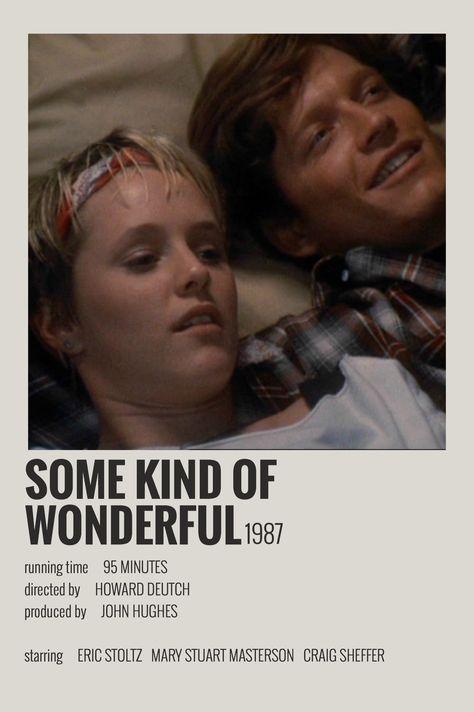 Alternative Minimalist Movie/Show  Polaroid Poster - Some Kind of Wonderful
