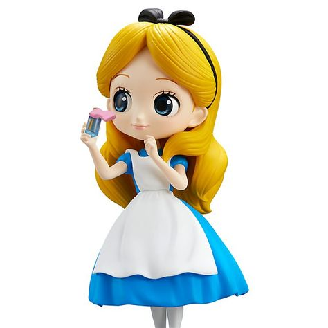 Q posket Disney Characters girl Princess PVC figure toy gift Loose ALICE Golden