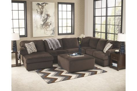 Terrific Jessa Place 3 Piece Sectional With Ottoman Ashley Alphanode Cool Chair Designs And Ideas Alphanodeonline