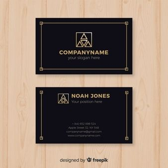 Download Professional Business Card Template In Elegant Style For