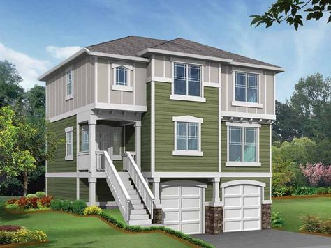 Eplans Craftsman House Plan - Perfect Plan for Tough Lots - 1570 Square Feet and 3 Bedrooms from Eplans - House Plan Code HWEPL14481