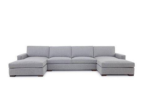 Anton U Bumper Sectional 3 Piece Custom Sectional Sofa Long