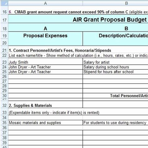 Grant Proposal Budget Template New 304 Best Images About Grant