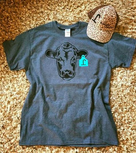 152100c8549e CATTLE EARTAG T-SHIRT, customizable cattle head, brand, monogram, tshirt |  to wear | Shirts, Branded shirts, Clothes