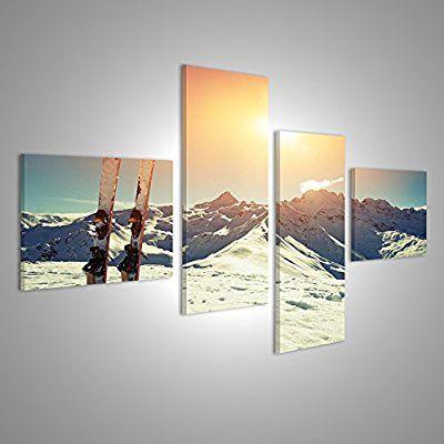 islandburner bild bilder auf leinwand xxl leinwandbild wandbilder kunstdrucke poster 4 teilig bbg ski schnee alpen sk leinwandbilder 60x90 günstig bedrucken lassen