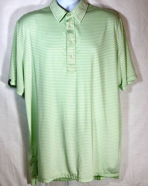 6f09a61b Ralph Lauren Kelly RLX Mens Green/White Golf Polo size XL with Logo  #fashion #clothing #shoes #accessories #mensclothing #shirts #ad (ebay link)