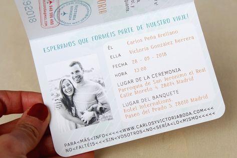 Invitaciones De Boda Pasaporte Invitaciones De Boda