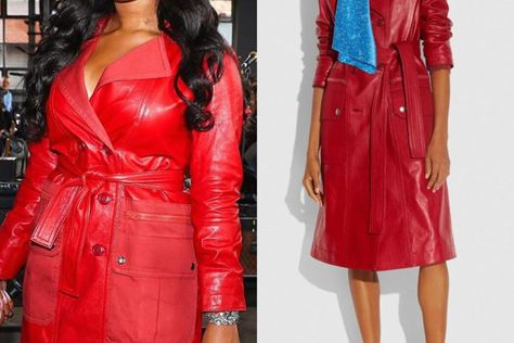 Ask And Tell Coach Leather Trench With Ruching Detail On Megan Thee Stallion 1966 Magazine In 2020 Black Girl Fashion Girl Fashion Stylish Fashion