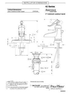 Pfister Ashfield Rustic Bronze 1 Handle 4 In Centerset Watersense