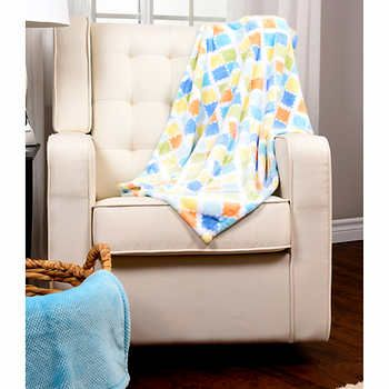 Baby S First By Nemcor Blue Baby Blanket 2 Pack Blue Baby