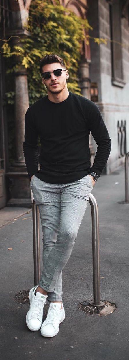 36 Ideas For Fashion Mens Fall Business Moda Masculina Sneakers Outfit Men, Sneakers Fashion, Sneakers Adidas, Adidas Outfit, Adidas Fashion, Adidas Men, Chinos Men Outfit, Adidas Dress, Trousers Fashion