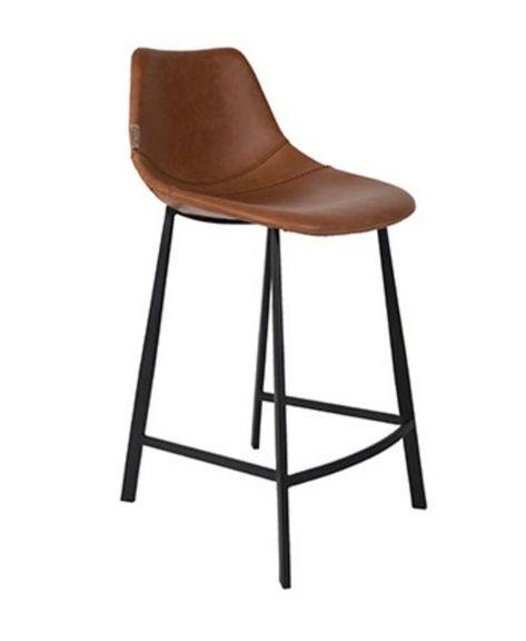Barstol med ryggstöd Läder – Trademark Living
