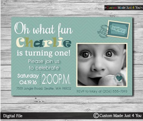 Special Delivery Post Card Invitation by CustomMadeJust4You
