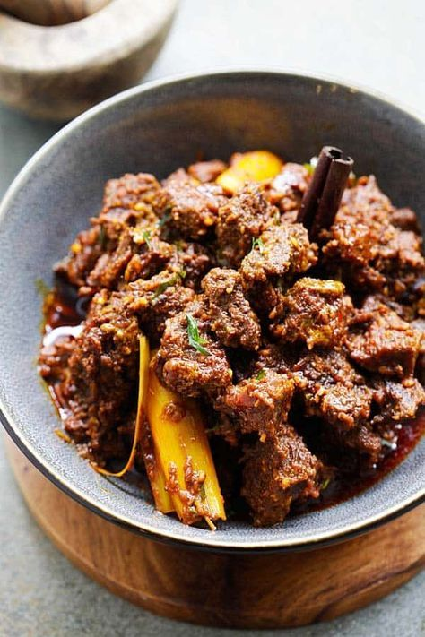 Beef Rendang Recipe Food Food Recipes Beef Rendang Recipe