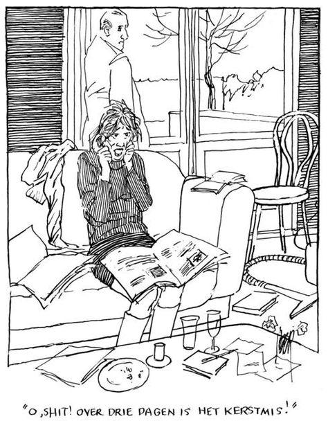 Kerstmis Satire Karikatuur En Cartoons