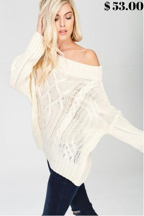 dresses Cali Cool Off Shoulder Sweater...
