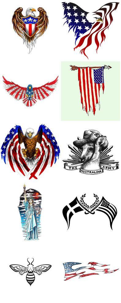 Patriotic Tattoo Designs : patriotic, tattoo, designs, Tattoos