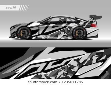 Vehicle graphic livery design vector  Graphic abstract