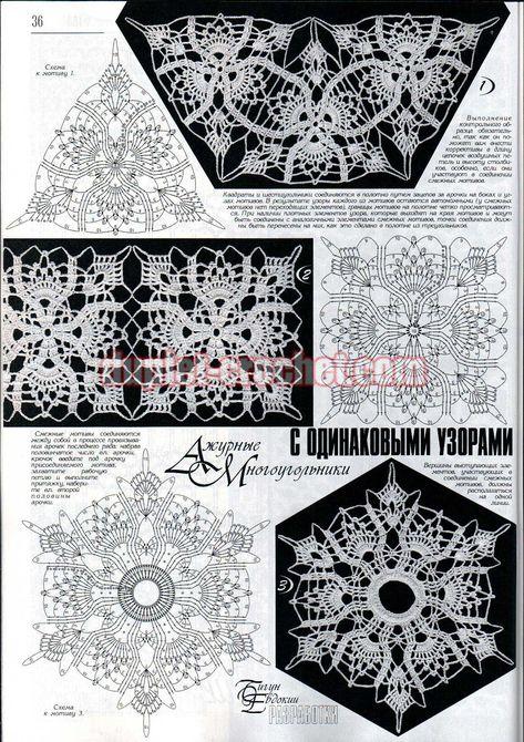 April 2014 Duplet 158 Ukrainian crochet patterns magazine