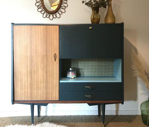 Buffet Vintage Theophile 1 Relooking Meuble Mobilier De Salon Meuble Vintage