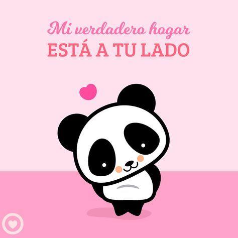 Lindo Panda Kawaii De Amor Panda Kawaii Pandas Dibujo Y Kawaii