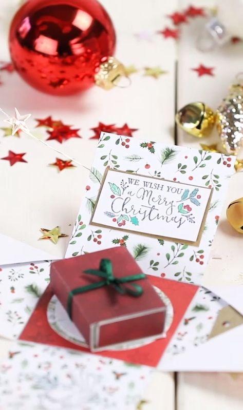 """werbung Wollt ihr eure Liebsten mit einer """"Explosion"""" überraschen und euren Gutschein oder Geldgeschenk kreativ verpacken? Dann macht meine Explosionsbox nach. 😍 Habt ihr schon alle Geschenke zusammen?  #gift #geschenk #diygeschenk #doityourself #diygift #christmas #diychristmas #explosionsbox #weihnachtsgeschenk"""