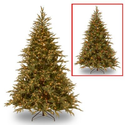 National Tree Frasier Grande Pre Lit Christmas Tree With Color Changing Lights Bed Bath Beyond Pre Lit Christmas Tree Led Christmas Tree Artificial Christmas Tree Christmas tree with dual lights white and multicolored