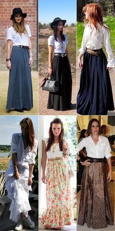 Pentecostal maxi skirts, every woman can have her own style