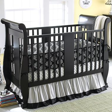I Like The Black Crib, Not A Fan Of The Bedding On It Though. | Kids |  Pinterest | Baby Furniture Sets, Black Crib And Baby U2026