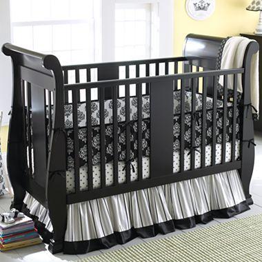 Savanna Bella Convertible Crib   Black   Jcpenney | Baby Stuff | Pinterest  | Baby Furniture Sets, Black Crib And Baby Furniture