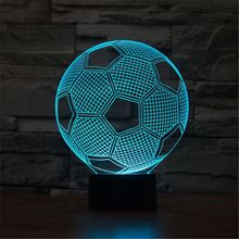 Led 3d Lamp Football Shape 3d Night Light Gradient Colors Usb Novelty Illusion Cubic Touch Table Lamps Lava Lamp Sl 3d Night Light 3d Led Lamp 3d Illusion Lamp