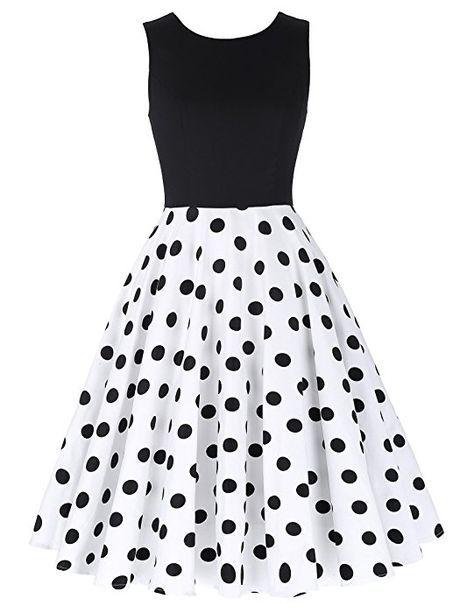 buy popular 153f9 71616 1950er vintage audrey hepburn kleid polka dots kleid ...