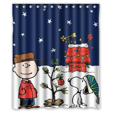 Deyou A Charlie Brown Christmas Shower Curtain Polyester Fabric