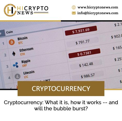 what next after cryptocurrency bubble bursts