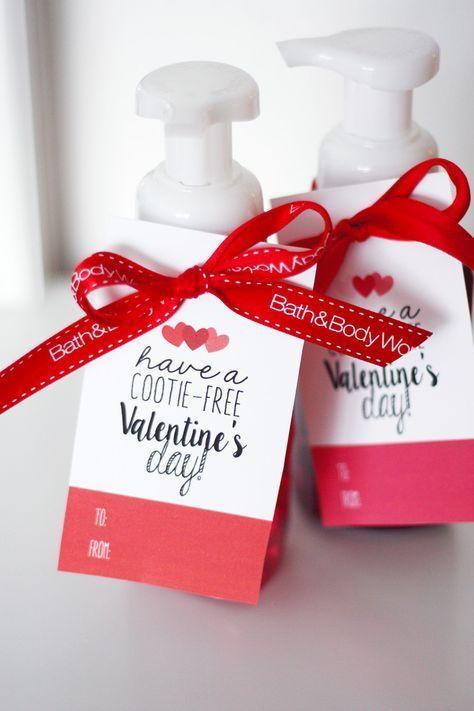 Valentine S Day Cootie Free Tags Valentine S Day Diy Valentines