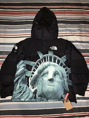 Supreme North Face Statue Of Liberty Baltoro Jacket Black In 2020 The North Face Mens Jackets Black