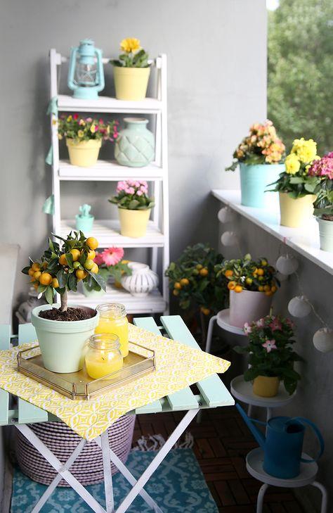 Diy Citronella Kerzen Balkon In Mint Und Gelb Citronella