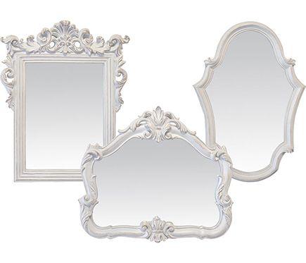 Espejo Decorativo Set De 3 Miroirs Blanco Leroy Merlin Mirror Home Decor Decor