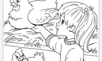 كراسة تلوين المزرعة Pdf Female Sketch Art