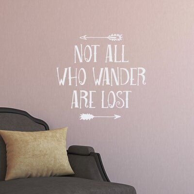 Wallums Wall Decor Not All Who Wander Are Lost Wall Decal Color