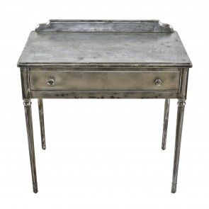 simmons modern furniture metal side table 2. highly sought after original fourlegged pressed and folded steel antique american depression era simmons modern furniture metal side table 2 s