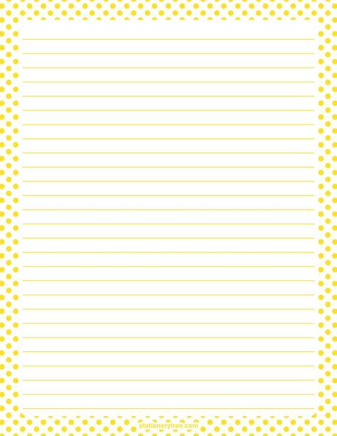 Printable Christmas polka dot stationery and writing paper - printable writing paper with border