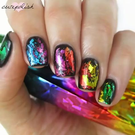 With Nail Art Transfer Foils you can create amazing nails.