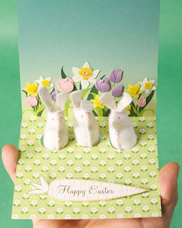 A finger puppet card (to make pop-up Easter bunnies)