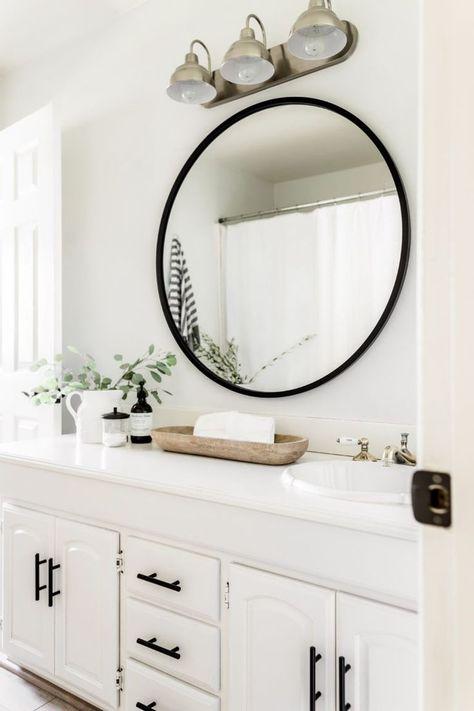 Home Decor Ideas Indian Style Affordable Bathroom Accessories.Home Decor Ideas Indian Style Affordable Bathroom Accessories White Bathroom Decor, Bathroom Renos, Bathroom Interior Design, Remodel Bathroom, Black Bathroom Mirrors, Bathroom Designs, Bathroom Renovations, White Bathroom Cabinets, Bathroom Showers