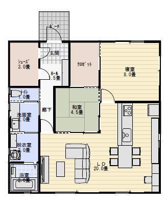25坪2ldk夫婦二人で住む間取り 平屋間取り 間取り フロアプラン 20坪 間取り