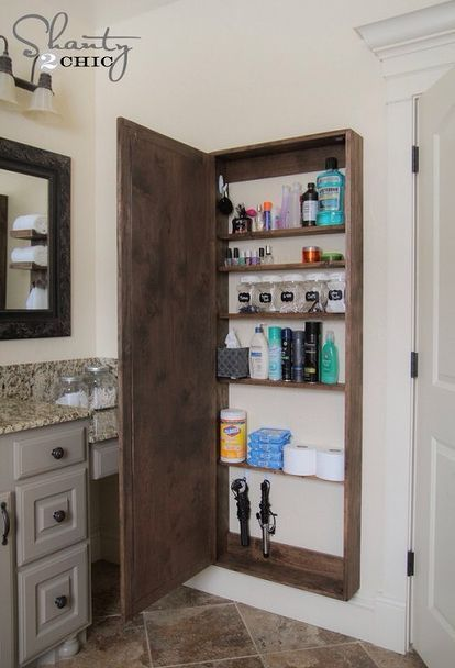 Diy Badezimmerschrank Badezimmerideen Diy Wohnkultur Wie Badezimmerideen Badezim Bathroom Mirror Storage Bathroom Storage Hacks Bathroom Mirrors Diy