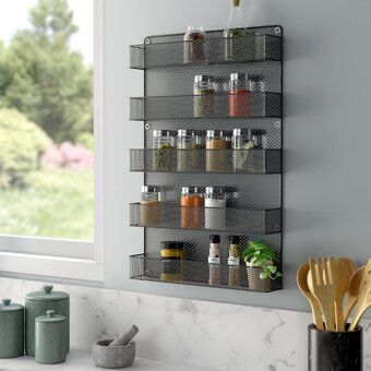 wall mounted kitchen shelves with doors