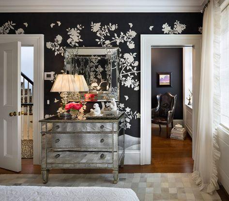 Un Papier Peint Tres Fun Pour Cette Chambre Casa Decoration