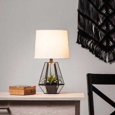 Glass Terrarium Table Lamp Base | Lamp